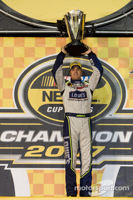 Championship Victory Lane 2007 NASCAR Nextel Cup Champion Jimmie