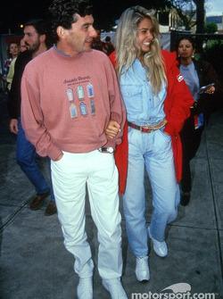 Ayrton Senna ve kız arkadaşı Adriane Galisteu