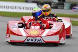 Felipe Massa and Luca Badoer