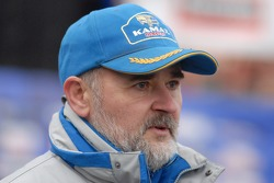 Kamaz-Master ceremonial start on the Red Square in Moscow: Vladimir Samoylov