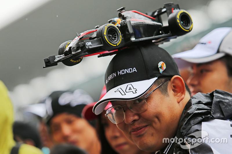 Ein Fan von McLaren-Honda