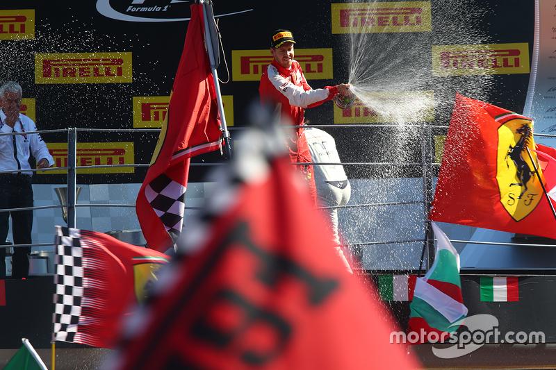 Second place Sebastian Vettel, Ferrari