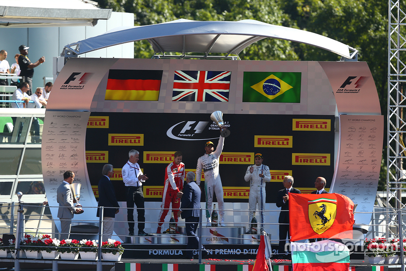 Podium: 1. Lewis Hamilton, Mercedes AMG F1 Team; 2. Sebastian Vettel, Ferrari; 3. Felipe Massa, Williams