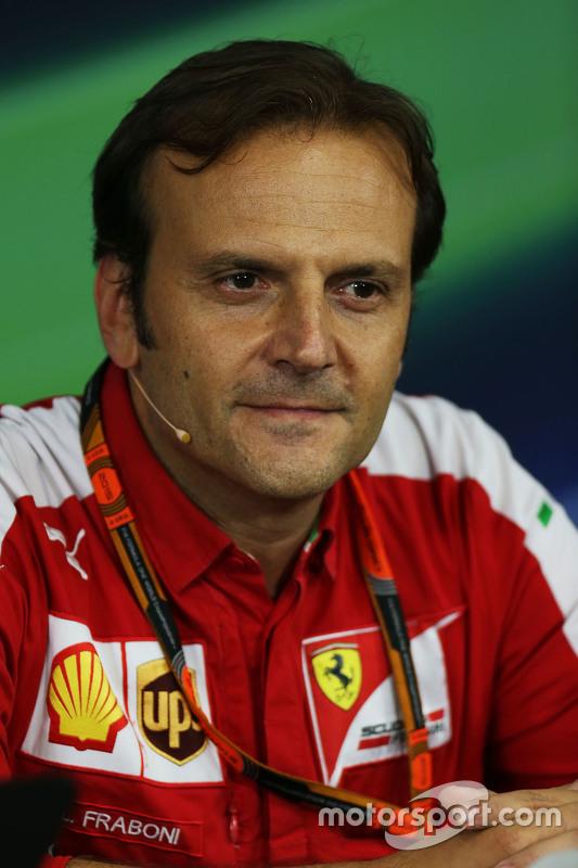 Луїджі Фрабоні, Ferrari , Глава моторістів на треку на пресс-конференції FIA