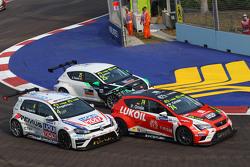 Tomas Engstrom, Volkswagen Golf TCR, Liqui Moly Team Engstler; Pepe Oriola, SEAT Leon, Team Craft-Ba