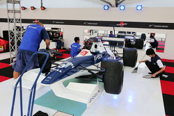 A Tyrrell 019 on display
