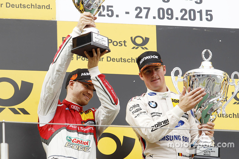 Podium: winner Maxime Martin, BMW Team RMG, second place Edoardo Mortara, Audi Sport Team Abt