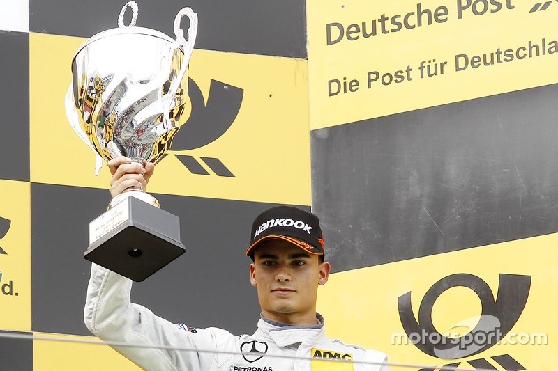 Podium: third place Pascal Wehrlein, HWA AG Mercedes-AMG