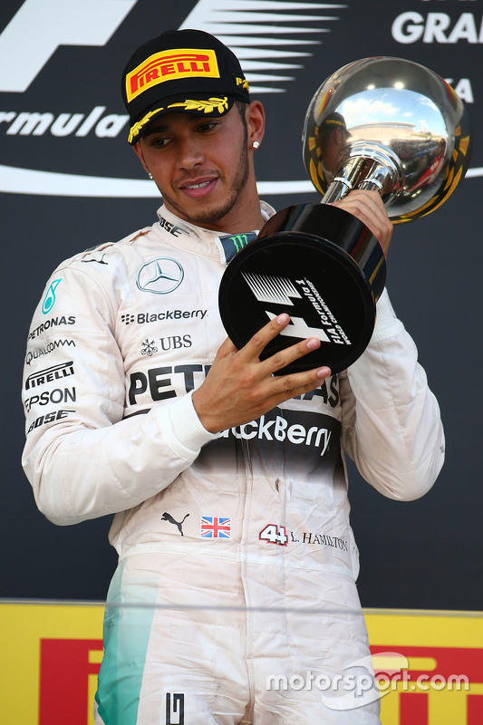 Vencedor Lewis Hamilton, Mercedes AMG F1 Team