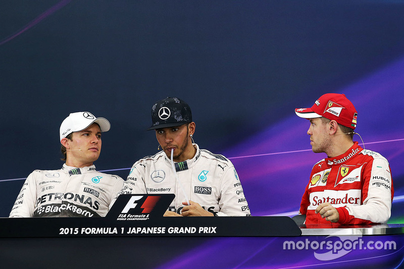 Press conference: Race winner Lewis Hamilton, Mercedes AMG F1 Team, second place Nico Rosberg, Merce