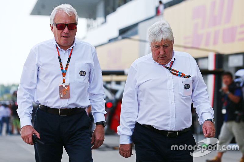 Charlie Whiting, FIA Delegate with Herbie Blash, FIA Delegate
