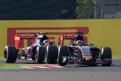 Max Verstappen, Scuderia Toro Rosso STR10 leads team mate Carlos Sainz Jr., Scuderia Toro Rosso STR10