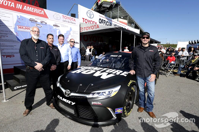 Martin Truex та the Furniture Row Racing team present their Toyota Camry
