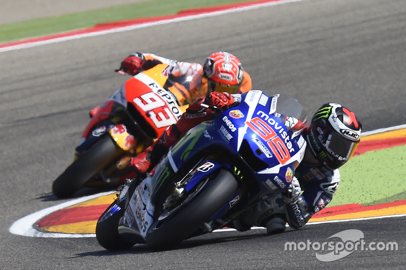 Jorge Lorenzo, Yamaha Factory Racing y Marc Marquez, Repsol Honda Team