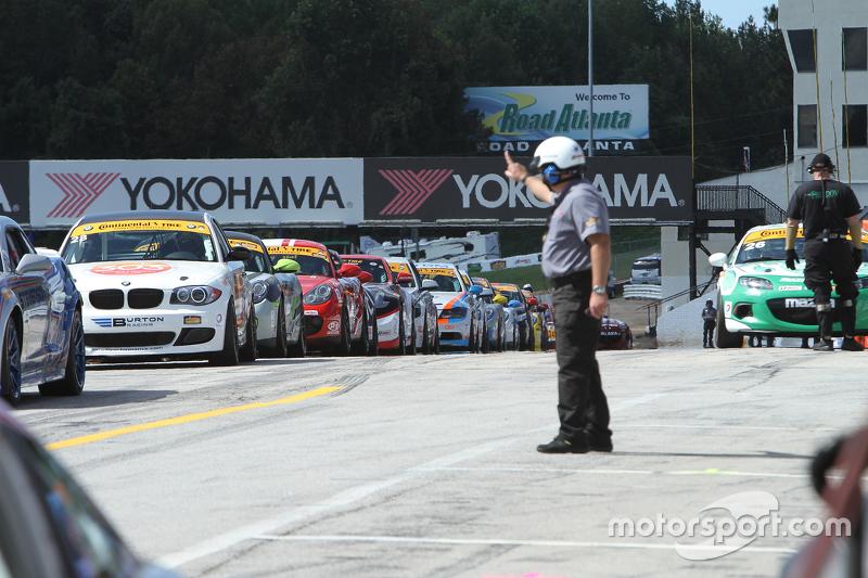 Cars line up для practice