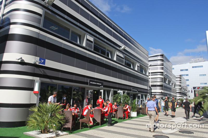 Ferrari paddock suite