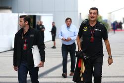 (L to R): Matthew Carter, Lotus F1 Team CEO with Federico Gastaldi, Lotus F1 Team Deputy Team Principal