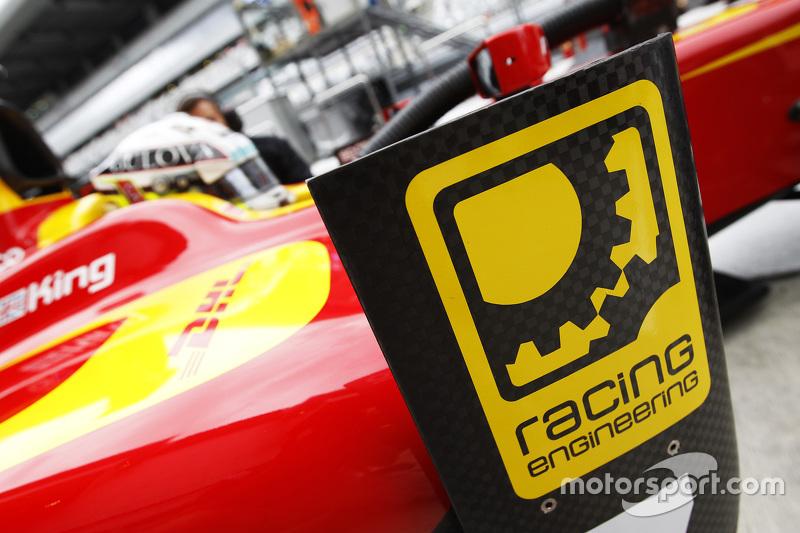 Racing Engineering logo on car of Jordan King, Racing Engineering