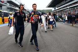 Daniil Kvyat, Red Bull Racing en la parrilla