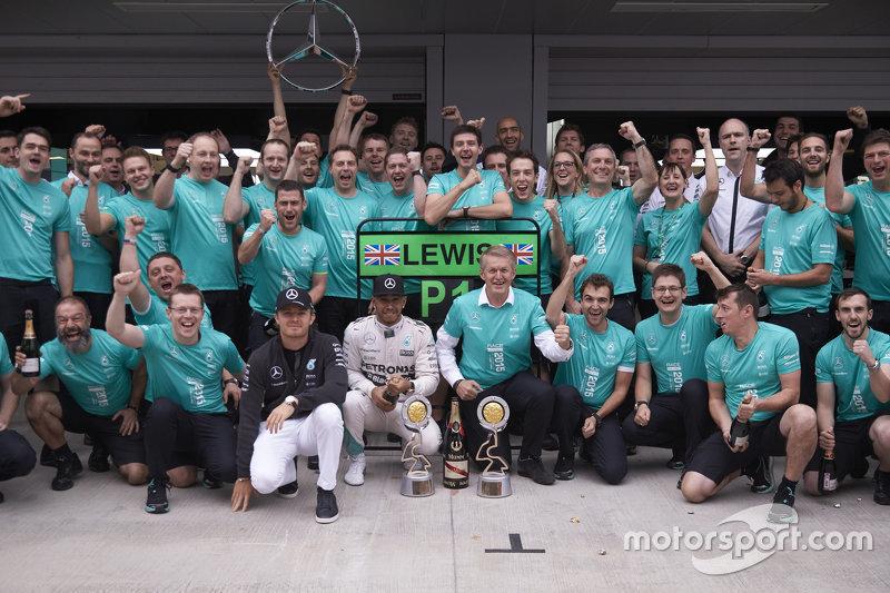 Lewis Hamilton y Nico Rosberg, Mercedes en Rusia 2015