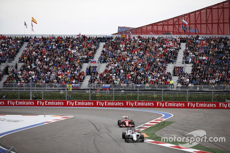 Valtteri Bottas, Williams and Kimi Raikkonen, Ferrari