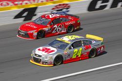 Josh Wise, BK Racing Toyota and Jeff Gordon, Hendrick Motorsports Chevrolet
