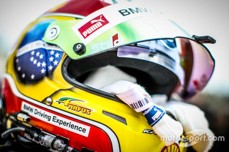 Helmet of Augusto Farfus , BMW Team RBM BMW M4 DTM