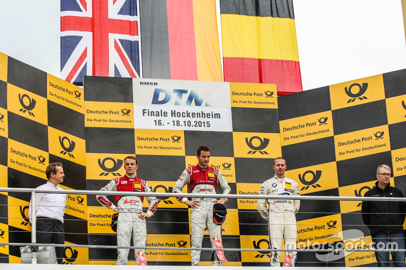 Podium, Jamie Green, Winner, Timo Scheider , Audi Sport Team Phoenix Audi RS 5 DTM and Maxime Martin