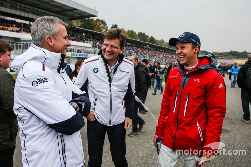 Jens Marquardt, BMW Motorsport Director and Mattias Ekström, Audi Sport Team Abt Sportsline, Audi A
