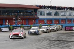 Andreas Bakkerud, Olsbergs MSE Ford Fiesta ST en Johan Kristoffersson, Volkswagen Team Sweden en Ant