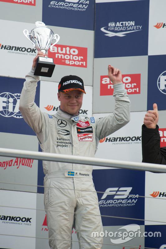 3. im 1. Rennen: Felix Rosenqvist, Prema Powerteam, Dallara Mercedes-Benz