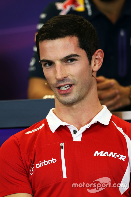 Alexander Rossi, Manor F1 Team in de FIA persconferentie
