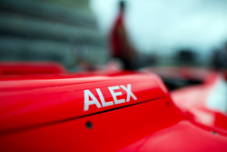 L'auto di Alexander Rossi, Manor F1 Team nel box