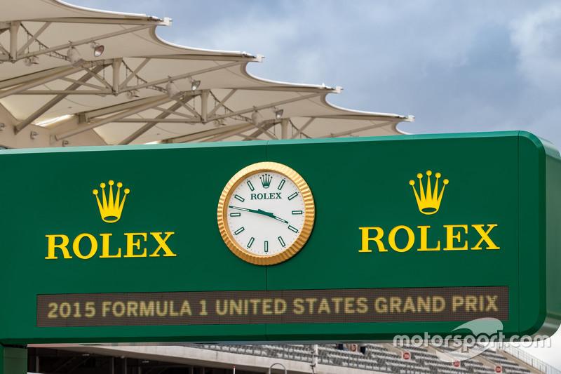 Pizarra de Rolex en pits
