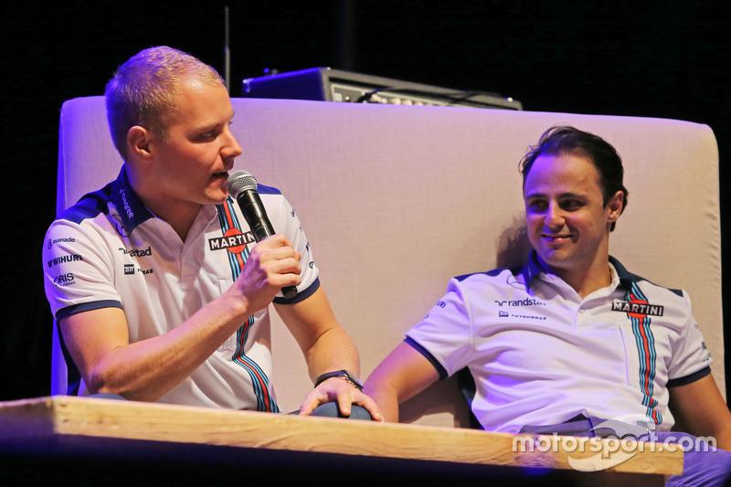 فالتيري بوتاس مع زميله في ويليامز فيليبي ماسا