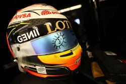 Helmet of Romain Grosjean, Lotus F1 E23