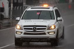 Vehículo de Control de carrera en la lluvia