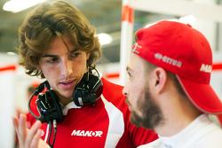 (L to R): Roberto Merhi, Manor Marussia F1 Team with Will Stevens, Manor Marussia F1 Team