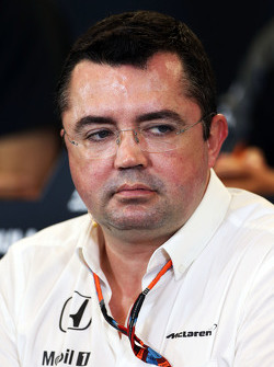 Eric Boullier, McLaren Racing Director in the FIA Press Conference