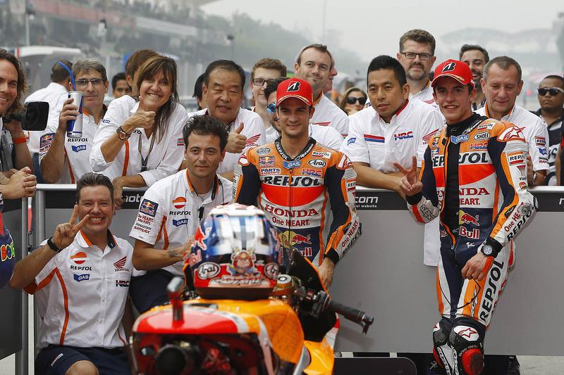 Polesitter Dani Pedrosa, Repsol Honda Team and second place Marc Marquez, Repsol Honda Team