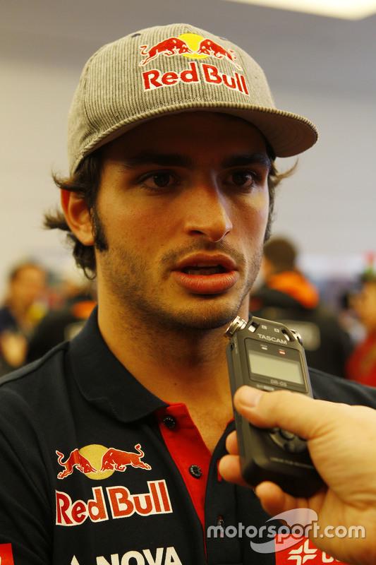 Carlos Sainz Jr, Scuderia Toro Rosso with the media