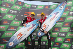 Winners James Courtney and Jack Perkins, Holden Racing Team