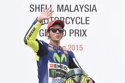Podio: il terzo classificato Valentino Rossi, Yamaha Factory Racing