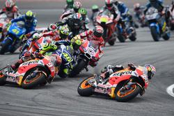 Départ : Dani Pedrosa, Repsol Honda Team mène