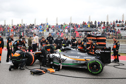 Серхио Перес, Sahara Force India F1 VJM08 на стартовой решетке