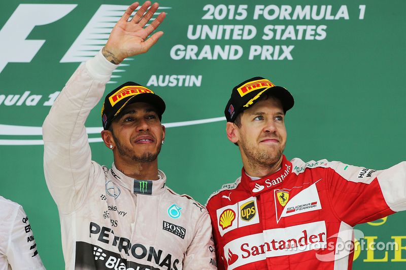 Podio: Ganador de la carrera y Campeón del Mundo Lewis Hamilton, Mercedes AMG F1 y el tercer lugar