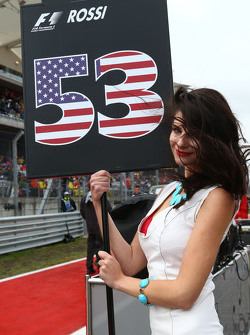 Grid girl voor Alexander Rossi, Manor Marussia F1 Team