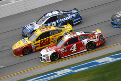 Kevin Harvick, Stewart-Haas Racing Chevrolet; Joey Logano, Team Penske Ford; Jimmie Johnson, Hendrick Motorsports Chevrolet