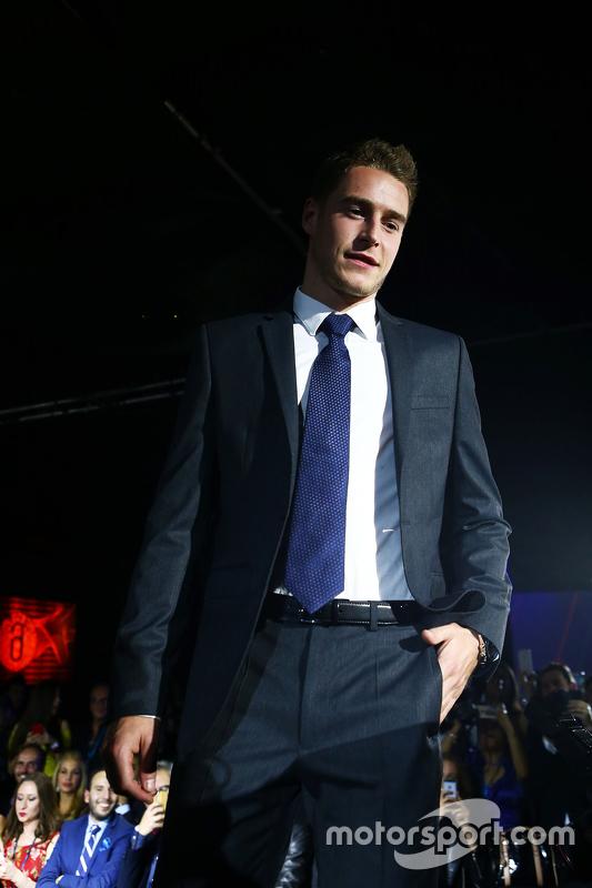 Stoffel Vandoorne, McLaren test- en reserverijder op de Amber Lounge Fashion Show