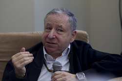 Jean Todt, FIA President with the media
